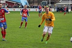 Adam Engelbrektsson i matchen mot Tvååker. FOTO: Susann Sannefjäll