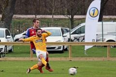 Viktor Mollapolci i matchen mot Tvååker. FOTO: Susann Sannefjäll