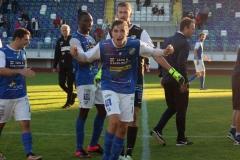 Alen Kasumovic firar segern mot Kristianstad. FOTO: Susann Sannefjäll