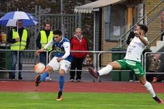 Daniel Krezic i matchen mot Prespa Birlik på Rimnersvallen. FOTO: Susann Sannefjäll