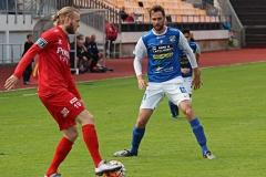 Tobias Mikaelsson i matchen mot Utsikten på Rimnersvallen. FOTO: Susann Sannefjäll