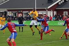 Fabrice Tapé i matchen mot Tvååker. FOTO: Susann Sannefjäll