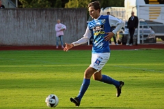 Alen Kasumovic i bortamatchen mot FC Trollhättan på Edsborg. FOTO: Susann Sannefjäll