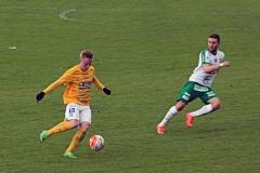 Adam Engelbrektsson i segermatchen mot Prespa Birlik på Malmö Stadion. FOTO: Susann Sannefjäll