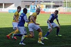 Pablo Andersson och Andreas Bergman i matchen mot Lund. FOTO: Susann Sannefjäll