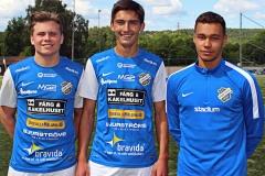 Filip Schöön, Mohammed Omar och Lucas Hallberg. FOTO: Susann Sannefjäll