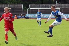 Emil Niklasson i matchen mot Utsikten på Rimnersvallen. FOTO: Susann Sannefjäll
