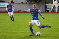 Robin Jansson i bortamatchen mot FC Trollhättan på Edsborg. FOTO: Susann Sannefjäll
