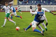 Robin Jansson i matchen mot Prespa Birlik på Rimnersvallen. FOTO: Susann Sannefjäll