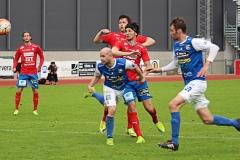 Johan Patriksson i matchen mot Östers IF på Rimnersvallen. FOTO: Susann Sannefjäll